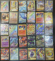 Pokemon Card Lot 100 OFFICIAL TCG Cards Ultra Rare Included GX,EX,V,Vmax, Holos!
