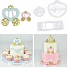 3pcs Princess Carriage Plastic Fondant Cookie Cutter Cake Mold Decorating Tools