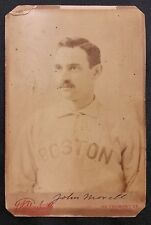 1890 Studio Cabinet JOHN MORRILL - BOSTON Club Players League - Great image