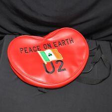 U2 Peace On Earth Heart Shaped Backpack Embroidered Irish Shamrock Flag Patch Us