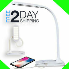 IVY LED Desk Lamp with USB Port, 3-Way Touch Dorm Office Home White