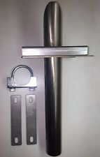 """Universal generator exhaust system wall attachment for 1-1/2"""" ID flex steel tube"""