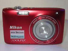Nikon COOLPIX S3100 14.0MP Digital Camera - red