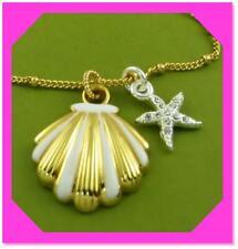 Brighton Sea Dreamer Petite Necklace Gold Shell / Starfish & Pouch Jl7555