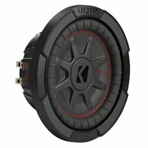 Kicker 8 Inch Dual 600W CompRT 4 Ohm Shallow Slim Car Audio Subwoofer | 48CWRT84