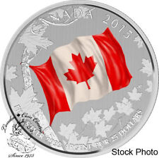Canada 2015 $25 The Canadian Flag Silver Coin