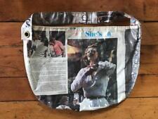 Vintage Clear Plastic Over 1974 Newspaper Faye Dunaway Shoulder Purse