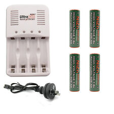 4 AA NiZn 1.6V 2800mWh Battery + AAA NiMH Rechargeable Charger UltraCell AU