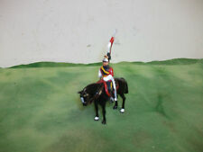 "Vintage  3"" British Red & Black Coat Horse Soldier  Made in England by Britain's"