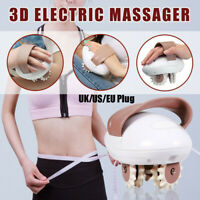 Electric 3D Body Slimming Massager Roller Weight Loss Fat Anti-Cellulite Burner