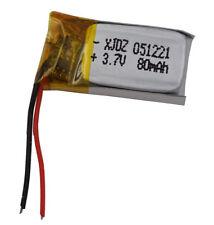 3.7V 80 mAh Polymer Li battery Lipo For bluetooth headset pen Sat nav 051221