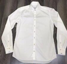 Men's Stenstroms Slimline Luxury Poplin White Dress Shirt Size 42-16 1/2