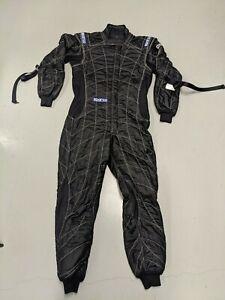 Sparco Groove KS-3 Kart Racing Suit 002334 Size: Medium, Black//Celeste