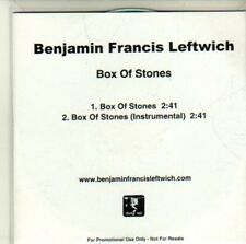 (CI652) Benjamin Francis Leftwich, Box of Stones - 2011 DJ CD