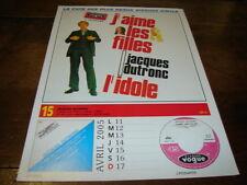 JACQUES DUTRONC & BOB DYLAN - Mini poster couleurs RECTO VERSO CALENDRIER 2005