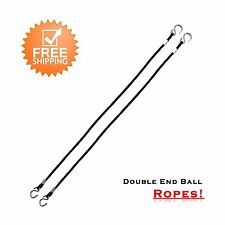 2Fit™ Double End Ball Ropes Hook Floor to Ceiling Cords Punch Bag Speed Boxing