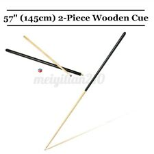 57 inch 2-Piece Wooden Pool Cue Jointed Billiard House Bar Pool Cue Sticks