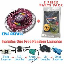 Evil Befall BB-100 Beyblade w/ Free Launcher & Tips / Parts / Card Gift Pack