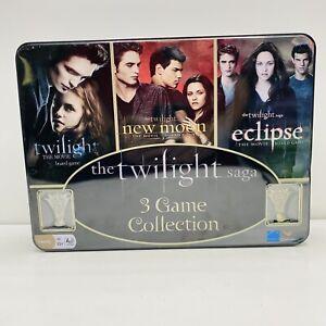 The Twilight Saga Three Board Games for Halloween In Collector's Tin New