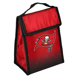 """Tampa Bay Buccaneers Insulated Lunch Bag Box Cooler Gradient Logo 9"""" x 7"""" x 4.5"""""""