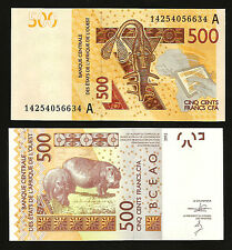 WEST AFRICAN STATES IVORY COAST 500  FRANCS 2012 (2014) UNC P NEW