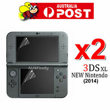 2x Top Bottom LCD Screen Protector Cover Film For New Nintendo 3DS XL/LL 2014