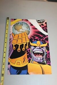 """RARE Thanos Infinity Gauntlet Store Display Card Poster Card 11"""" x 8"""" 1994 HTF"""