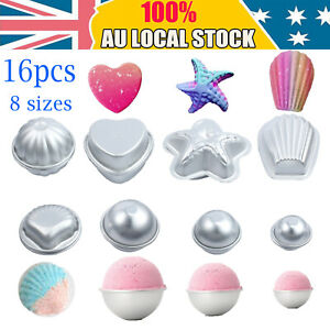16PCS Metal Aluminum Bath Bomb Molds Moulds DIY Homemade Crafting GIFTS 8 Shapes