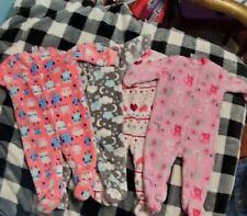 Girls 6-9 Month Baby Gear Fuzzy Sleeper Lot
