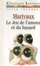 MARIVAUX LE JEU DE L'AMOUR ET DU HASARD poche