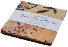 """Sweet Blend Batiks Moda Charm Pack 42 100% Cotton 5"""" Precut Quilt Squares"""