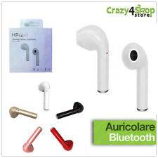 CUFFIA AURICOLARE BLUETOOTH EARPHONE A7 4.1 SENZA FILI PER ANDROID E IPHONE