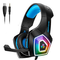 Hunterspider V1 Stereo Bass Game Gaming Headset for PS4 Slim Pro Xbox One PC Mic