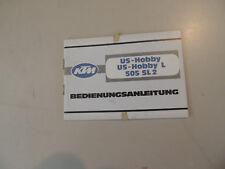 Fahrerhandbuch  KTM US-Hobby / L 505 SL2 04.1979 Bedienungsanleitung