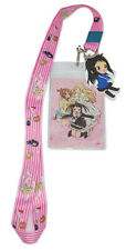 SOUL EATER NOT! PINK BACKGROUND by GE Animation 37689 Keychain Charm ID Holder