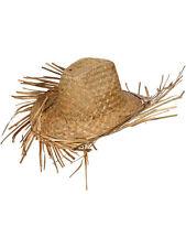 Straw Beachcomber Hawaiian Beach CAPPELLO COWBOY SOMBRERO Messicano Costume