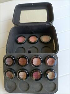 RARE ! NUTRIMETICS Agent's eleven EYE SHADOW types and Case ! Free Postage !!
