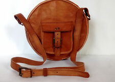 Lady Leather Round shape Crossbody Shoulder Bag handbag Satchel Purse Tote