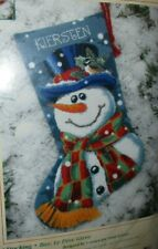 Dimensions Mr Frost Snowman Needlepoint Christmas Stocking Kit #9128