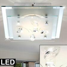 Glas Design Deckenlampe Esszimmer Beleuchtung Kristalle 10 Watt Leuchte Lampe