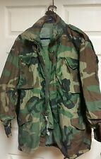 Field Jacket Medium Regular Woodland Camo BDU Cold Weather  Size M-R