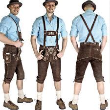 TOP Lederhose leather trousers Trachten SMARTPHONE braun Adler Kniebund KNHA1