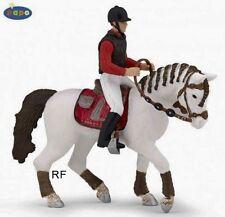 2 Figuren Pferde - Papo 51546 Pferd fashion + 52003 Reiter fashion - NEU
