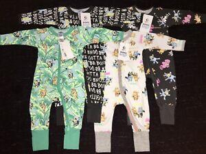 Bonds Bluey Zippy Wondersuit Bundle Size 00 BNWT