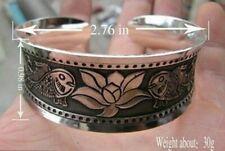 Cuff Bangle Bracelet Beautiful Wide Fish Concave
