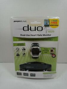 Fitness Heart Rate Monitor Sportline 1025 Women's Duo Gray NEW