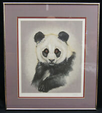 "Martin Gilbert Katon ""Panda Portrait"" Signed Serigraph LE #202/300 Framed 23x20"""