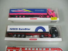 AI627-0,5# 2x Wiking H0 CAMION: 518 02 32 Scania+516 01 33 Iveco EuroStar, W+
