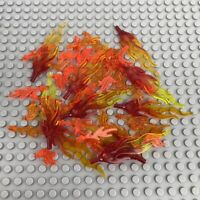 Lego Fire Flame Bundle Wave Rounded, Flame Marbled - Trans Red/Yellow/Orange X50