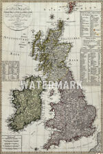 VINTAGE MAP OF THE UNITED KINGDOM FROM 1801 POSTER ART PRINT PHOTO GIFT OLD UK